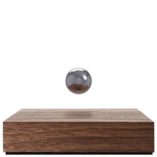FLYTE Buda Ball - Walnut Base with Chrome Sphere