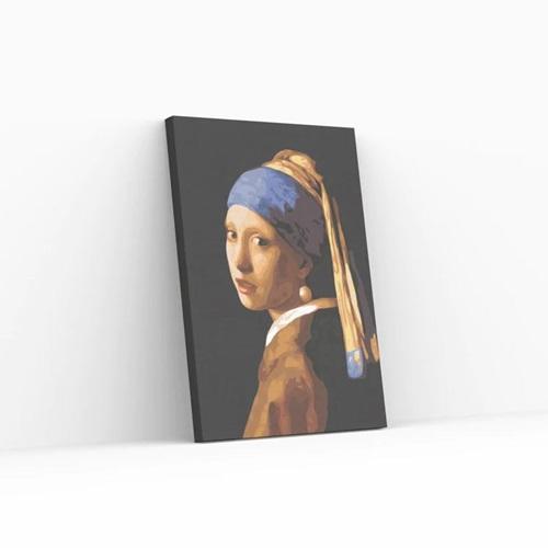 Best Pause Meisje met de Parel van Johannes Vermeer - Schilderen op nummer - 40x50 cm - DIY Hobby Pakket