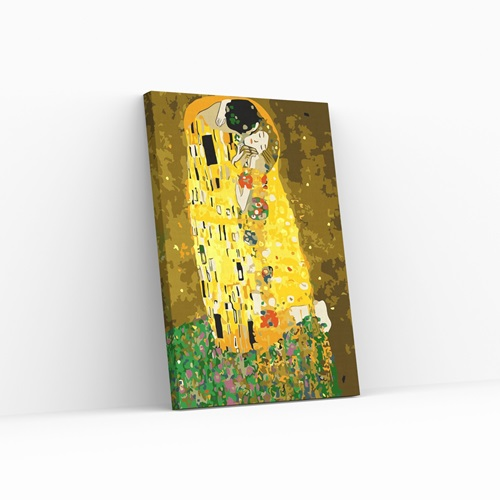 Best Pause De Kus van Gustav Klimt - Schilderen op nummer - 40x50 cm - DIY Hobby Pakket
