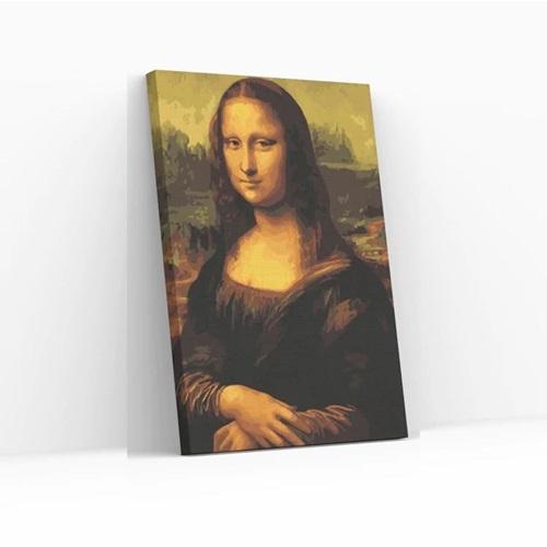 Best Pause Mona Lisa by Leonardo Da Vinci - Paint by number - 40x50 cm - DIY Hobby Kit
