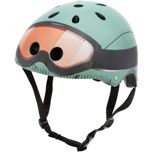 Mini Hornit Lids Bike Helmet for Kids - Military (S)