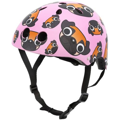 Mini Hornit Lids Bike Helmet for Kids - Pug Puppies (M)