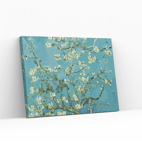Best Pause Almond Blossom by Vincent van Gogh - Paint by number - 40x50 cm - DIY Hobby Kit