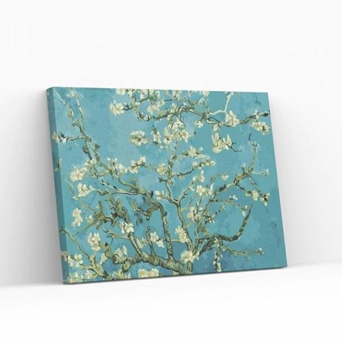 Best Pause Mandelblüte von Vincent van Gogh - Malen nach Zahlen - 40x50 cm - DIY Kit