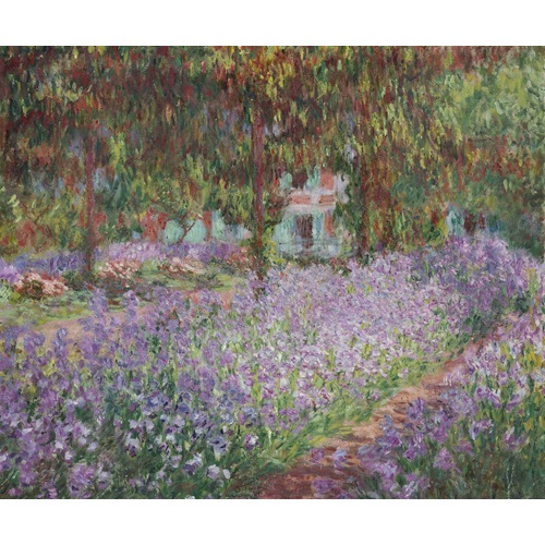 Best Pause Irises by Claude Monet - Paint by number - 40x50 cm - DIY Hobby Kit