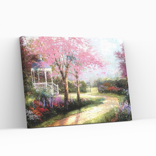 Best Pause Morning Dogwood by Thomas Kinkade - Paint by number - 40x50 cm - DIY Hobby Kit