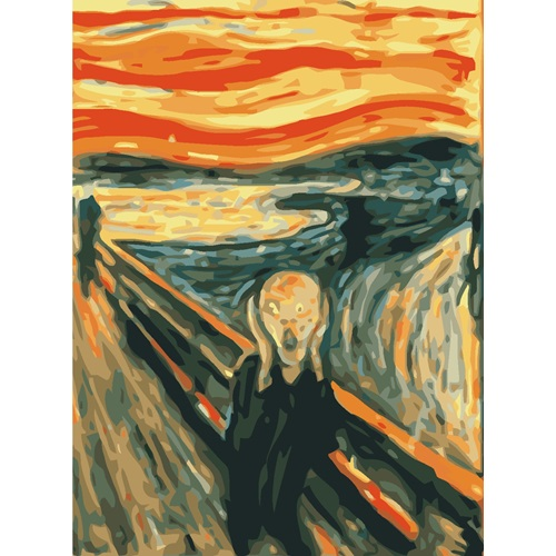 Best Pause The Scream by Edvard Munch - Paint by number - 40x50 cm - DIY Hobby Kit