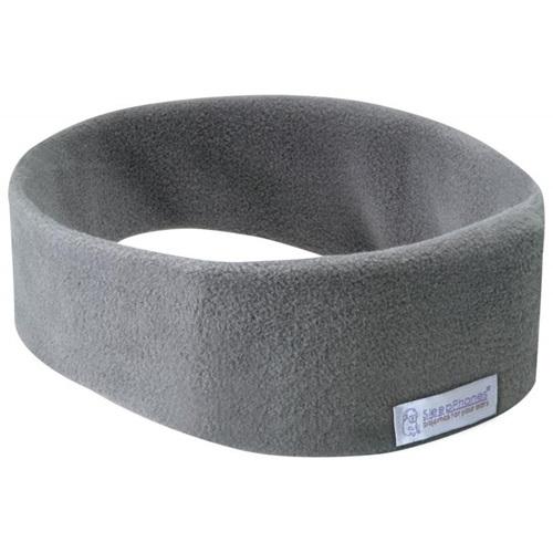 SleepPhones® Effortless Fleece Soft Gray - Bluetooth Headphones with Wireless QI Charging - Large