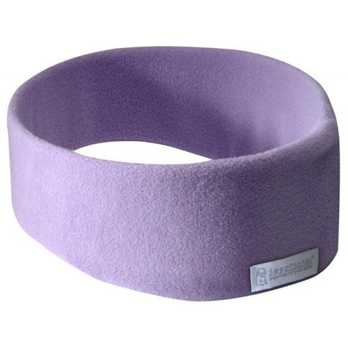 SleepPhones® Effortless v6 Fleece Quiet Lavender/Flieder - Bluetooth-Kopfhörer mit kabelloser QI-Aufladung - Large