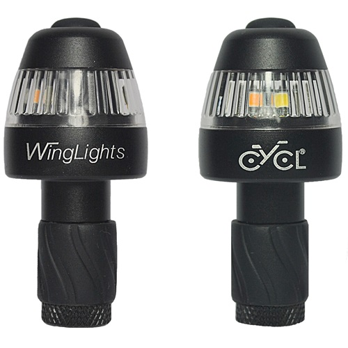 CYCL WingLights360 Fixed - LED-Blinker & Positionsleuchten für Fahrräder - Schwarz