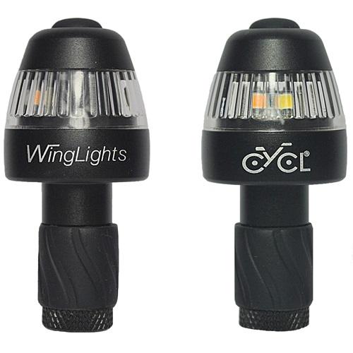 CYCL WingLights360 Fixed - LED Fietsverlichting -  Richting Aanwijzer & Zijlichten voor aan Stuur - Zwart