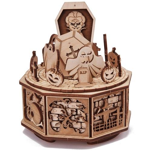 Wood Trick Wooden Model Kit - Happy Halloween - Music Box