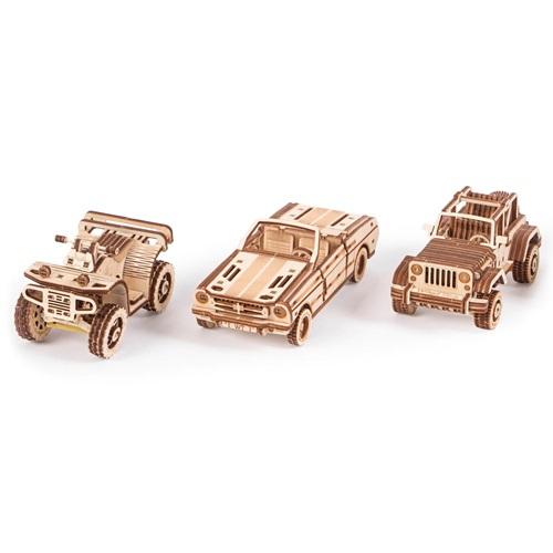 Wood Trick Holz Modell Kit - Auto Set von 3