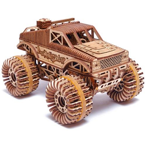 Wood Trick Wooden Model Kit - Monster Truck