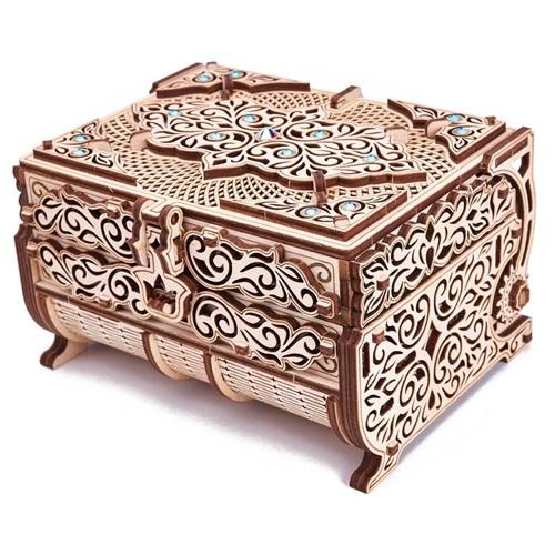 Wood Trick Holz Modell Kit - Schatzkiste mit Swarovski-Kristallen