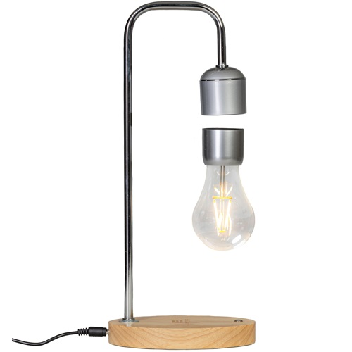 United Entertainment Magnetic Levitating Light Bulb with Oak Base