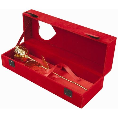 United Entertainment Golden Rose in Red velvet box
