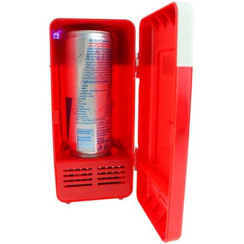 United Entertainment USB Schreibtisch Kühlschrank mit LED - Rot