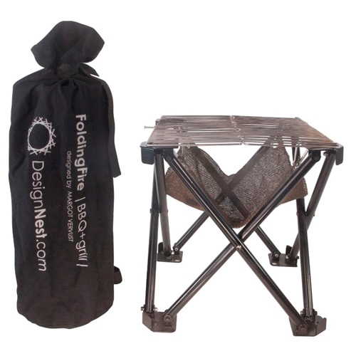 DesignNest Folding Fire - Bonfire and BBQ - Small