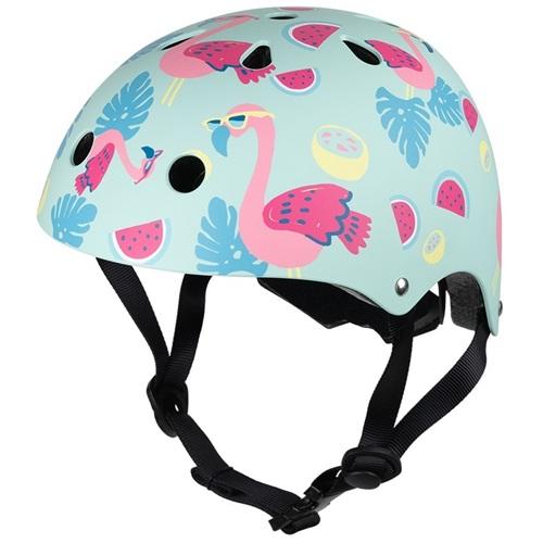 Mini Hornit Lids Fietshelm voor Kinderen - Flamingo (M)