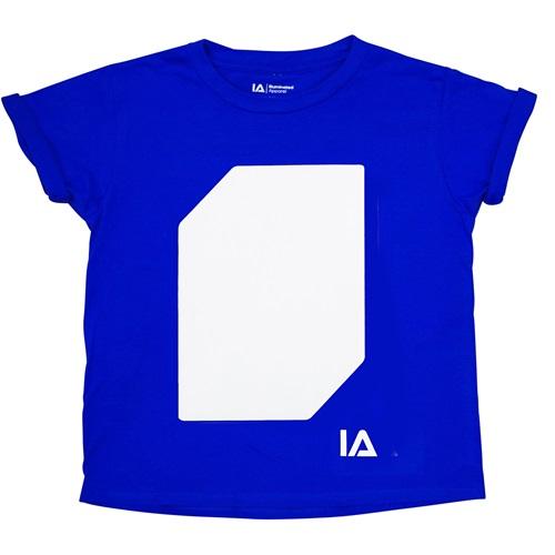 IA Interaktives Glow T-Shirt für Kinder - Super Grün Glühen - Königsblau - 5-6 Jahre