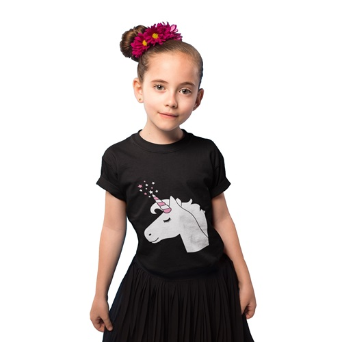 IA Interactive Glow T-Shirt for Kids - Unicorn - Super Green Glow 5-6 years