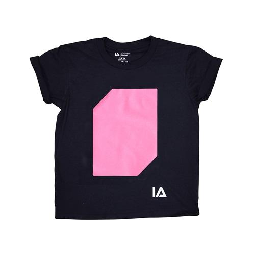 IA Interactive Glow T-Shirt for Kids - Super Peach Glow - Black 12-14 years