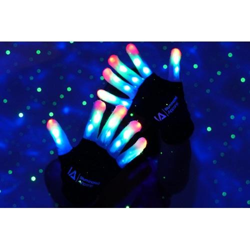 IA LED Light Up Gloves  - Medium (8-12 years)