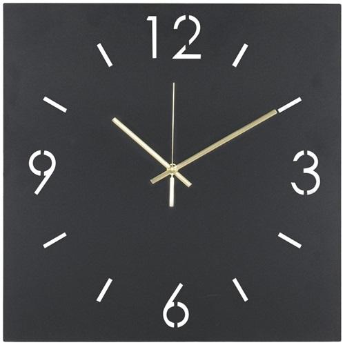 Spinder Design Time Wandklok Vierkant 40x40 - Zwart