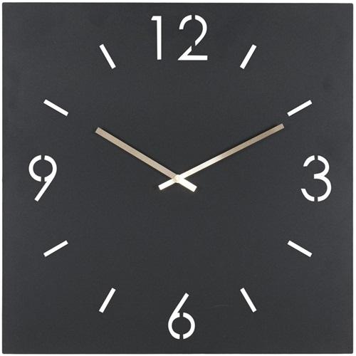 Spinder Design Time Wanduhr Quadrat 60x60 - Schwarz