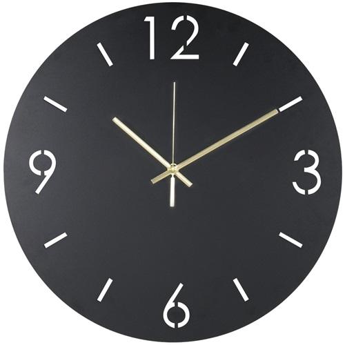 Spinder Design Time Round Wall Mounted Clock Ø 40cm - Black