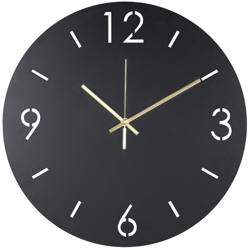 Spinder Design Time Wandklok Rond Ø 40cm - Zwart