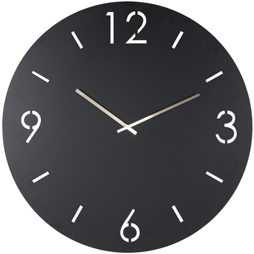 Spinder Design Time Round Wall Mounted Clock Ø 60cm - Black