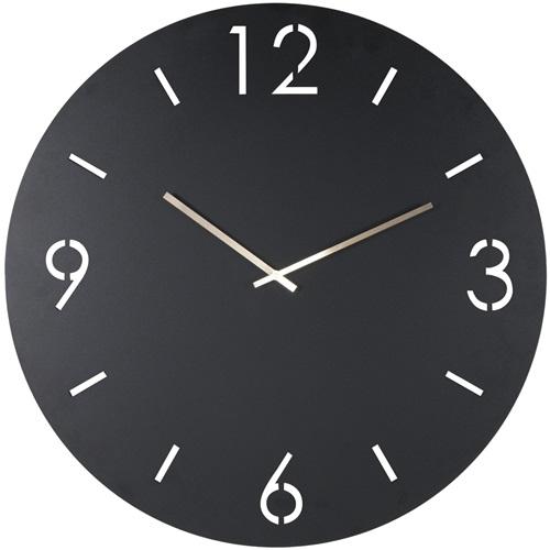Spinder Design Time Wandklok Rond Ø 60cm - Zwart