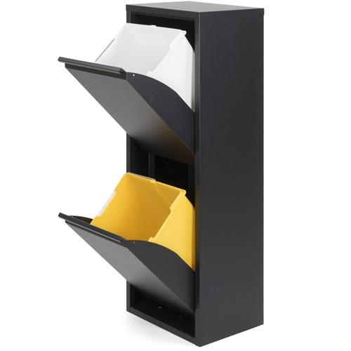 Spinder Design Gigi 2 Abfalltrenner 34x25x92 - Schwarz