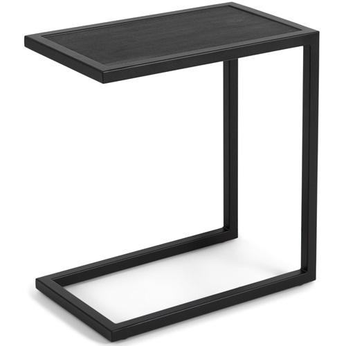 Spinder Design Daniel Divani Bijzettafel 50x30x54 - Zwart