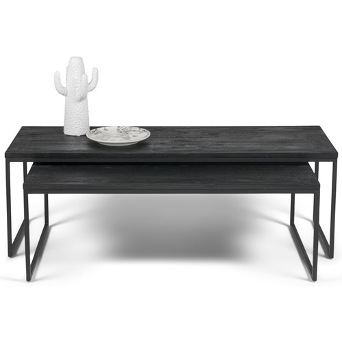Spinder Design Daniel Coffee Table Set 119x55x40 - Black