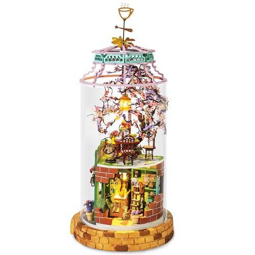 Robotime Magisches Café DS004 - Holzmodellbau - Puppenhaus - DIY
