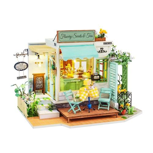 Robotime Flowery Sweets & Teas DG146 - Wooden Model Kit - Wooden Model Kit - Dollhouse - DIY