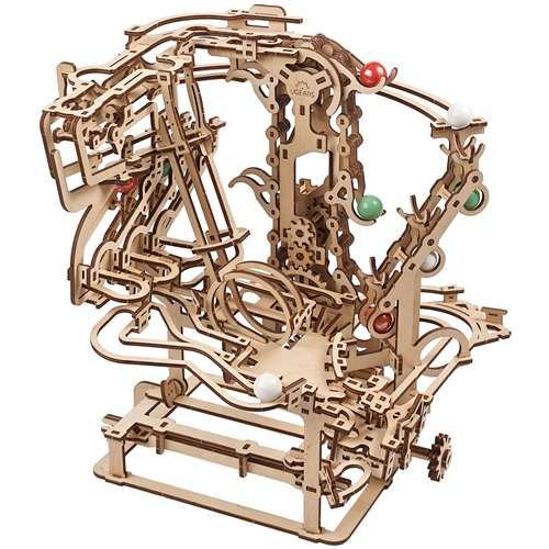 Ugears Wooden Model Kit - Marble Run with Chain Hoist