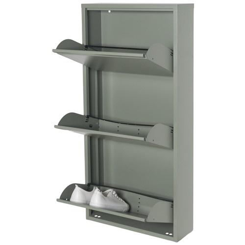 Spinder Design Billy 3 Schuhschrank mit 3 Fächern 50x15.5x103 - Grün
