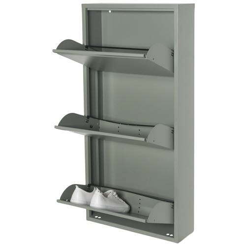 Spinder Design Billy 3 Shoe cabinet with 3 compartments 50x15.5x103 - Dusty Green
