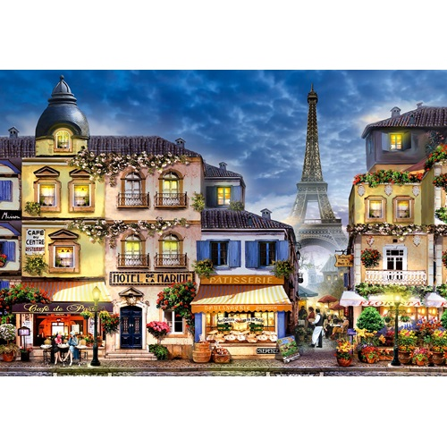 Wooden City Breakfast in Paris XL - Shaped Jigsaw Puzzle Wood - 52x38 cm - 600 pieces