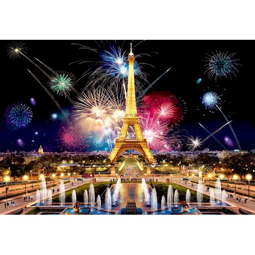 Wooden City Paris by Night XL - Shaped Jigsaw Puzzle Wood - 52x38 cm - 600 pieces