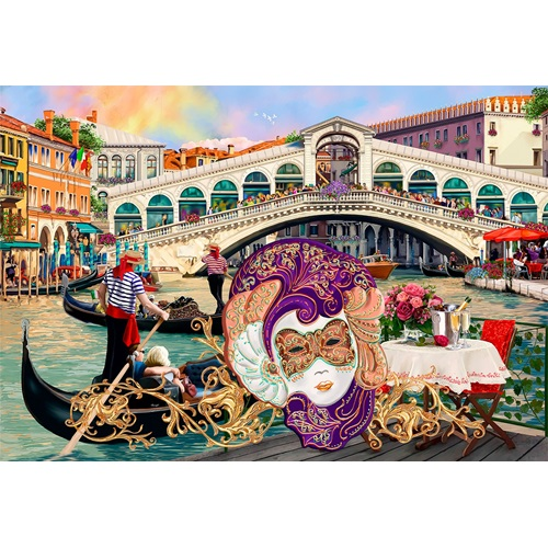 Wooden City Venice Carnival XL - Shaped Jigsaw Puzzle Wood - 52x38 cm - 600 pieces