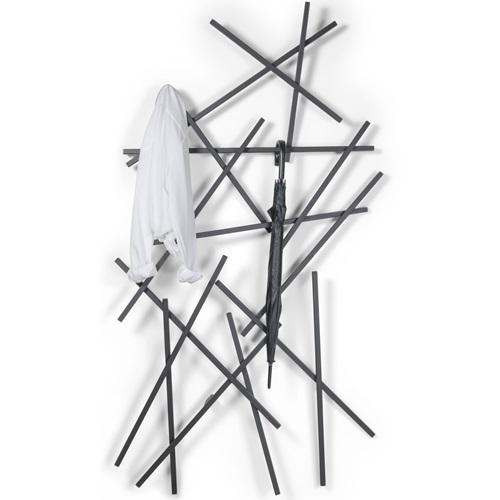 Spinder Design Matches Large Wall Coat Rack 100x15x184 - Black