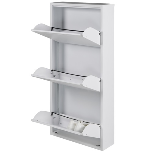 Spinder Design Billy 3 Shoe cabinet with 3 compartments 50x15.5x103 - White