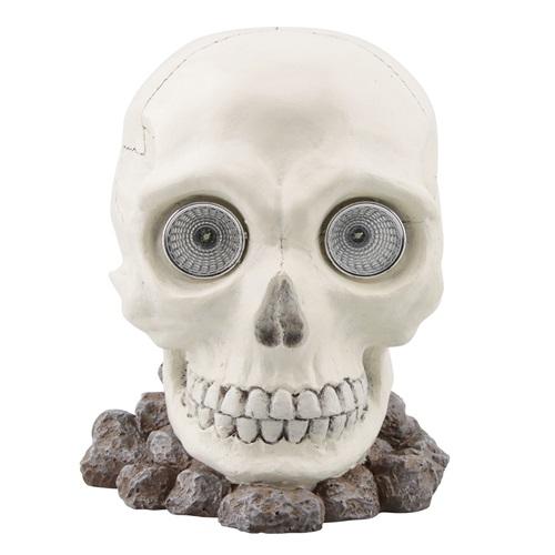 Rotary Hero Skull Head Solar Light